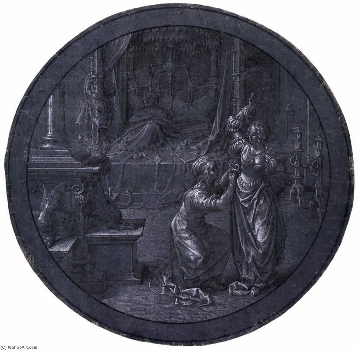Design for Stained Glass Roundel, 1520 by Jan Gossart | Art Reproduction | ArtsDot.com