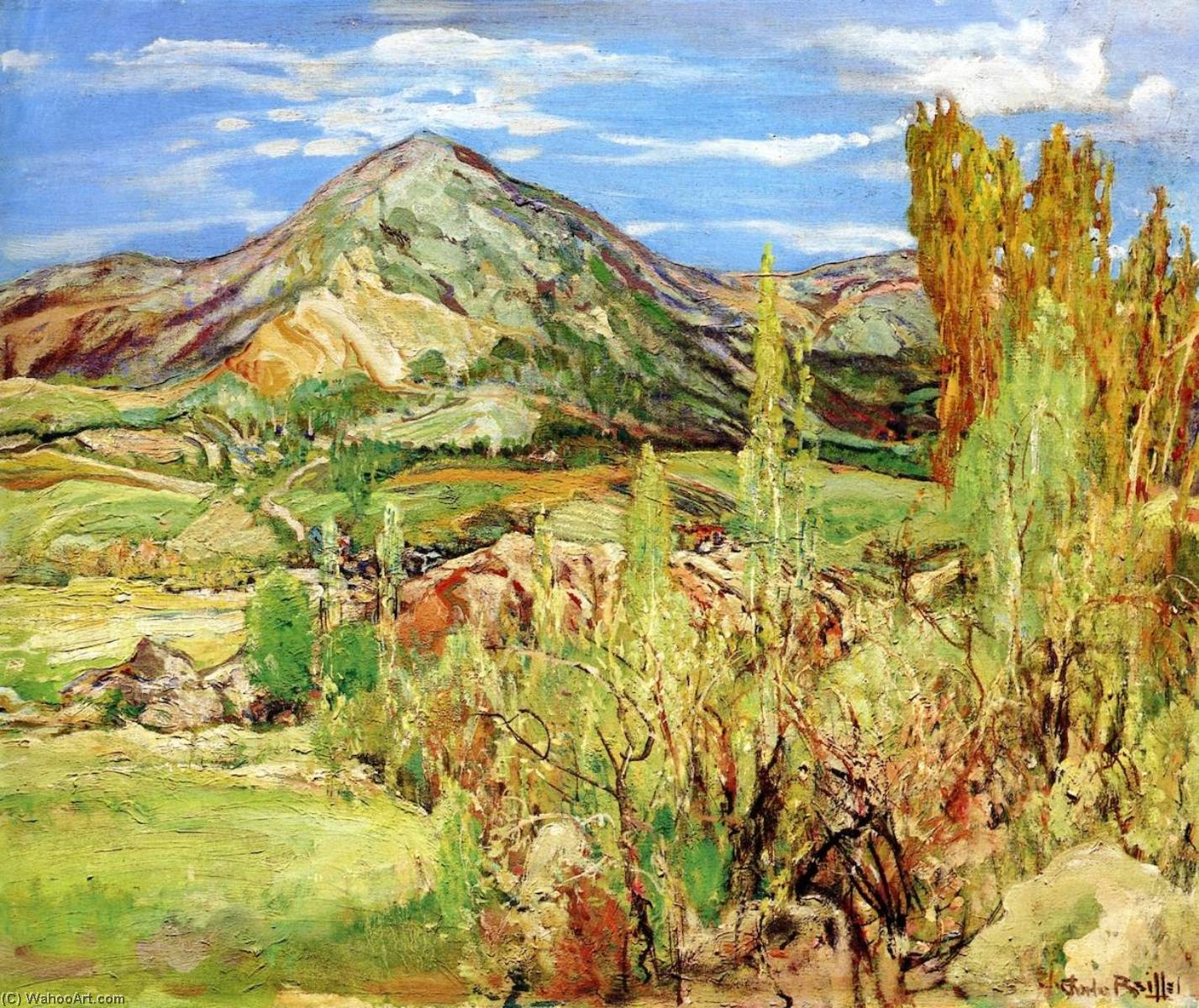 Edge of the Valley, 1940 by Charles Reiffel | Art Reproductions Charles Reiffel | ArtsDot.com