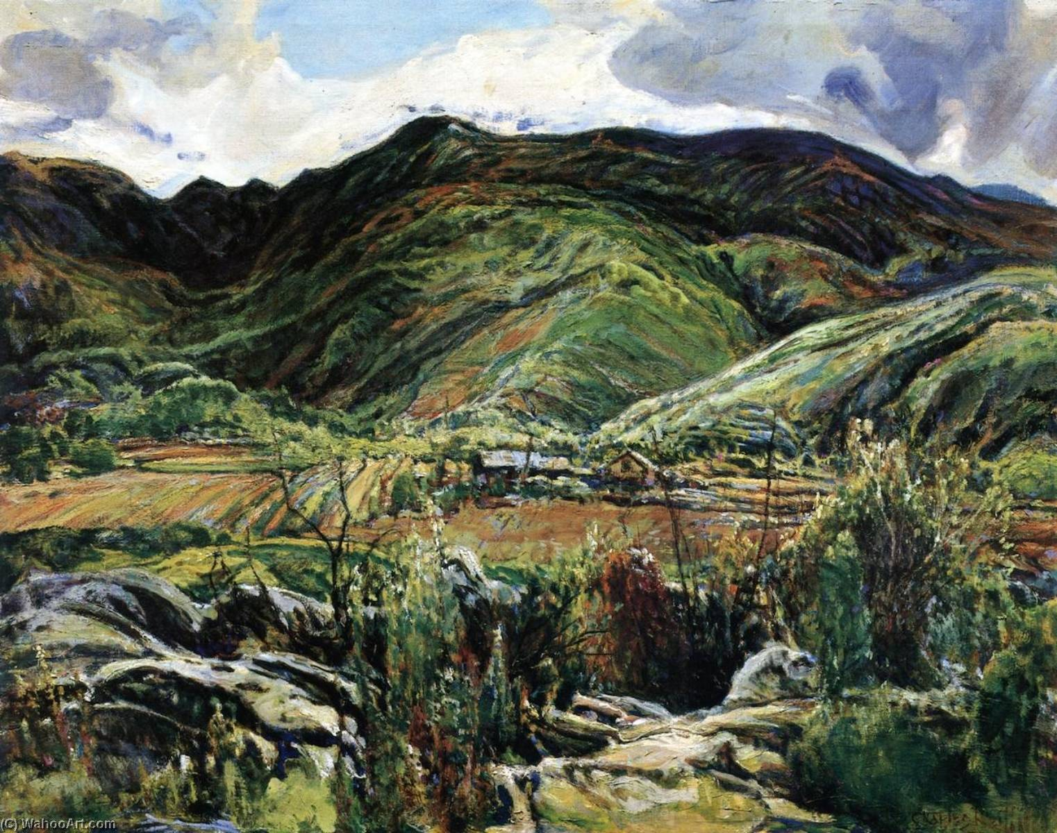 Mountain Ranch after the Rain, 1928 by Charles Reiffel | Museum Quality Copies Charles Reiffel | ArtsDot.com