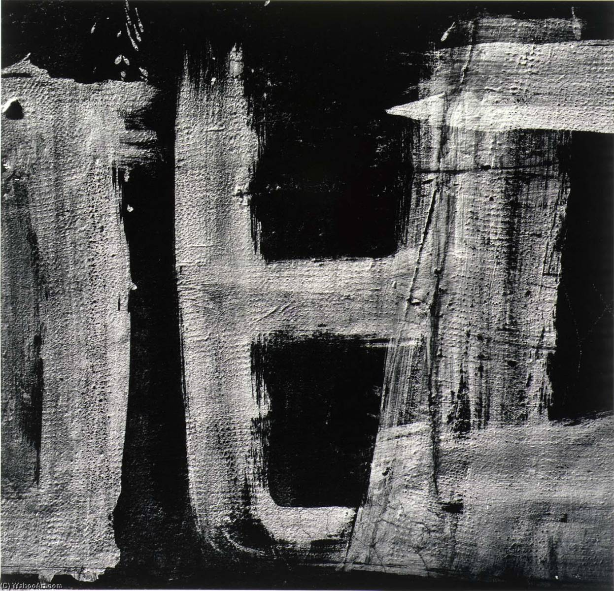 Rome 145, from the series Homage to Franz Kline, 1973 by Aaron Siskind (1903-1991, United States) | Museum Quality Reproductions | ArtsDot.com