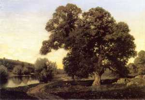 Henry Pember Smith - The Great Oak in the Mead..