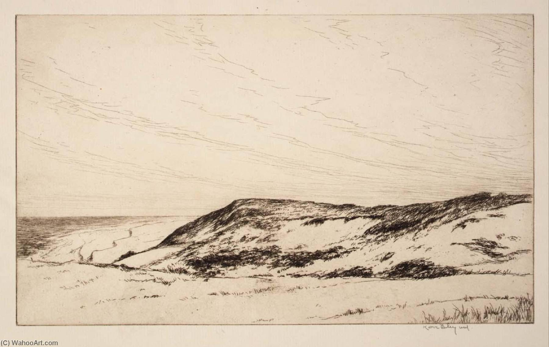 High Land, Cape Cod, 1922 by Kerr Eby | Painting Copy | ArtsDot.com