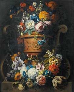 Gaspar Peeter The Younger.. - Still Life with Flowers i..