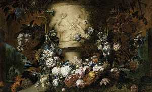 Gaspar Peeter The Younger.. - Garland of Flowers