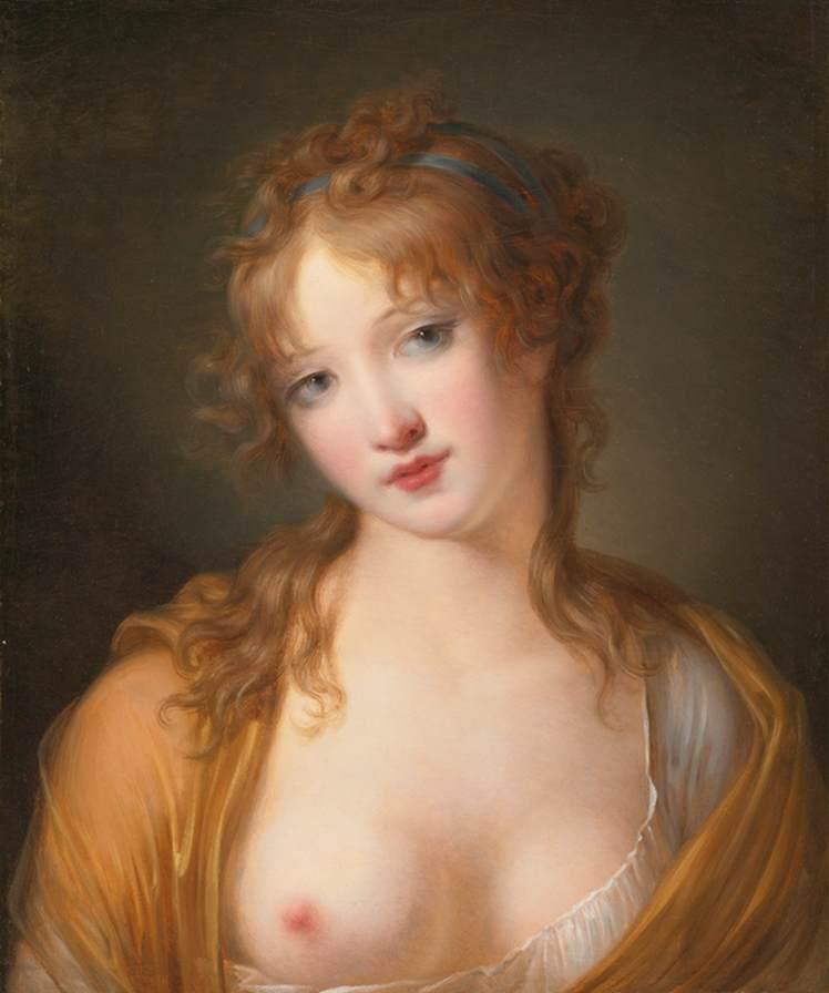 Portrait of a Young Lady in Classical Dress by Jacques Antoine Vallin | Museum Quality Reproductions | ArtsDot.com