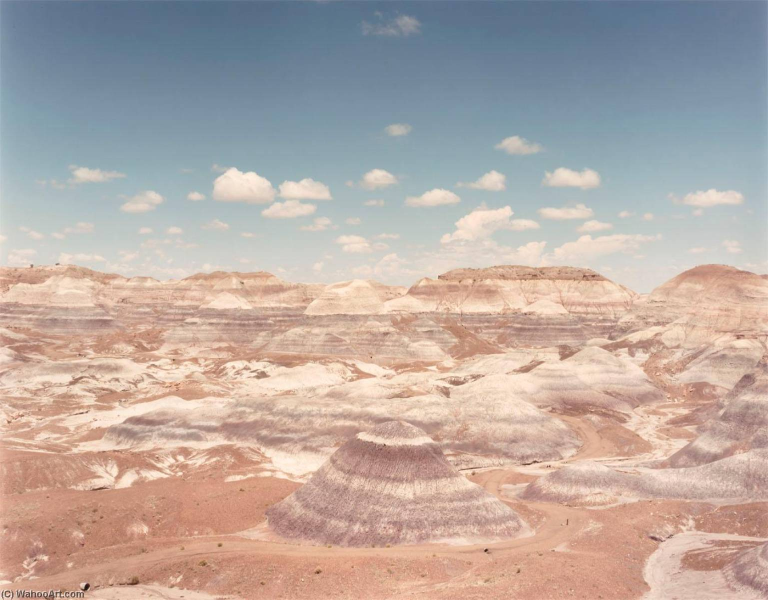 Blue Mesa, Petrified Forest N.P. Arizona, from the portfolio Shadowless Places, Deserts of the Southwest, 1984 by Frank Di Perna | Art Reproductions Frank Di Perna | ArtsDot.com
