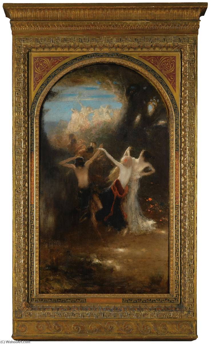 Dance of the Nymphs by Nicholas Gysis | Painting Copy | ArtsDot.com