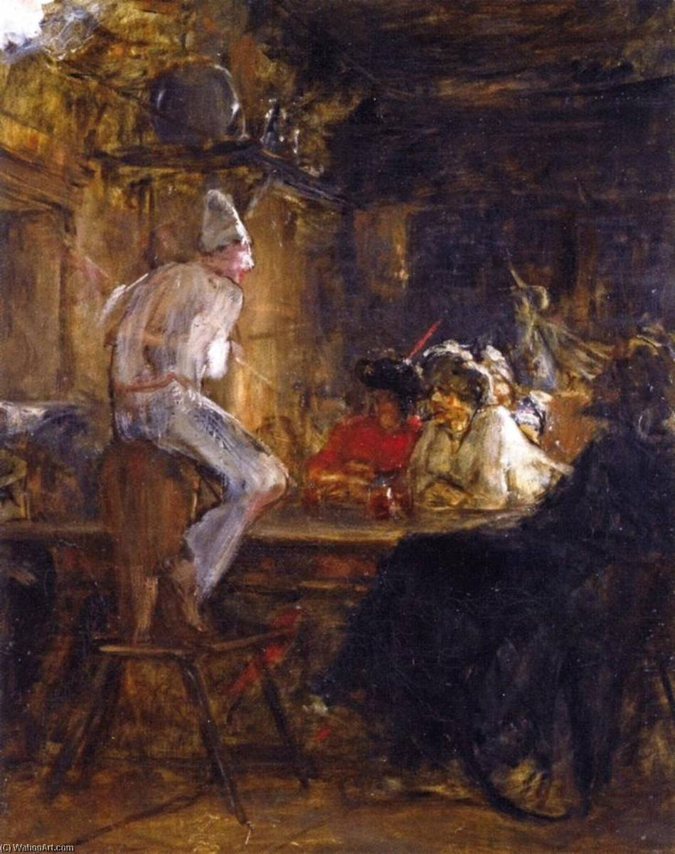 In the Tavern by Nicholas Gysis | Oil Painting | ArtsDot.com