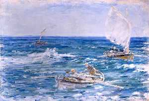 William Mctaggart - Lobster Fishers, Machriha..