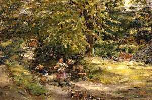 William Mctaggart - Gathering Brambles Kevoch..