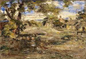 William Mctaggart - Landscape Sketch, Howgate