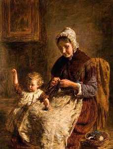 William Mctaggart - Grandmother's Pet