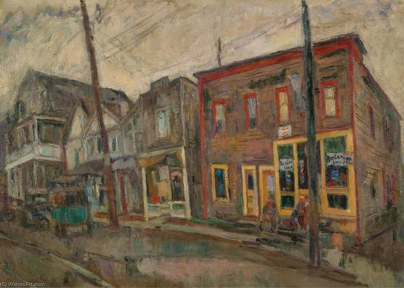 Street in the Bronx by Abraham Manievich | Art Reproduction | ArtsDot.com