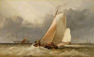 Edward William Cooke - Dutch Yachting on the Zuider Zee