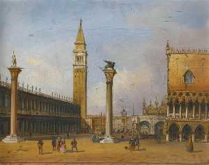 Carlo Grubacs - View of the Piazzetta fro..