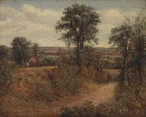 John Constable - Lane near Dedham