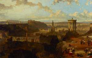 David Roberts - Edinburgh from the Calton Hill
