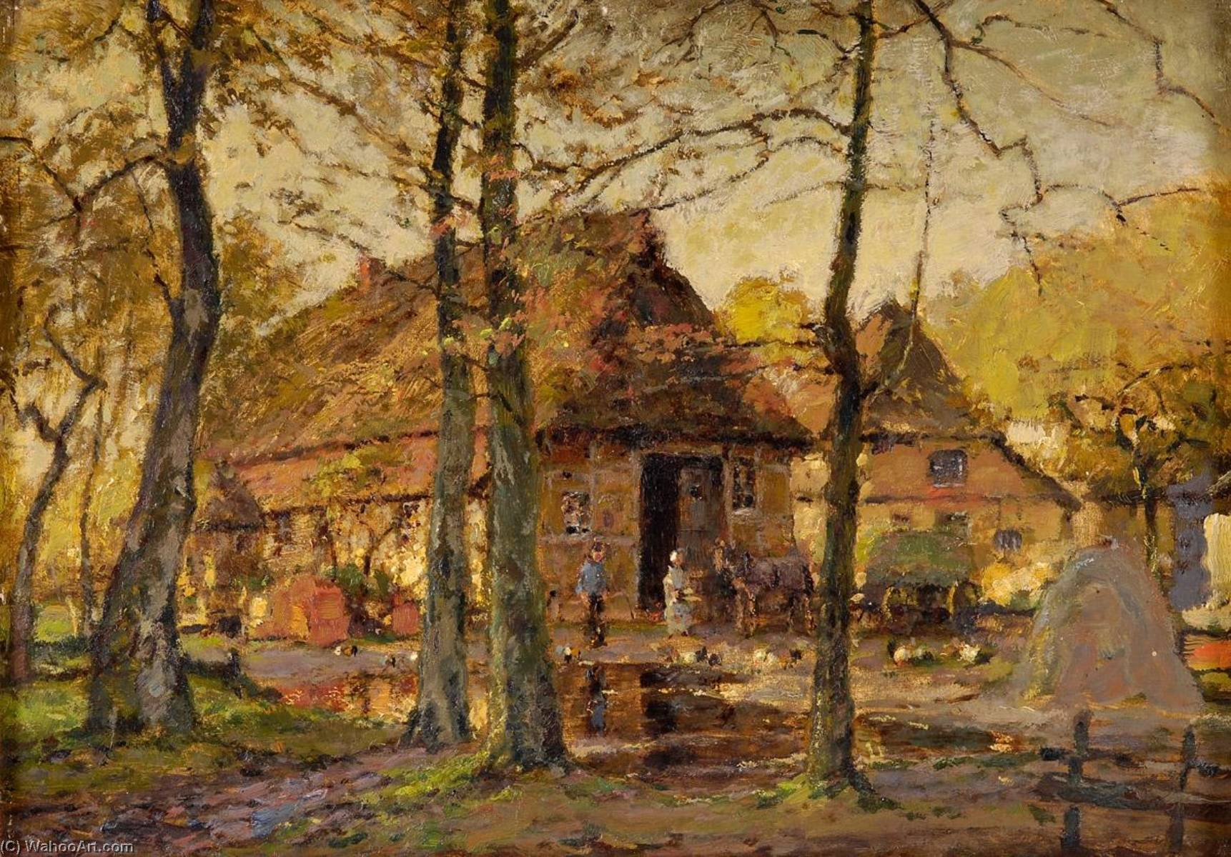 Early autumn in the countryside by Heinrich Hermanns (1862-1942) | Reproductions Heinrich Hermanns | ArtsDot.com