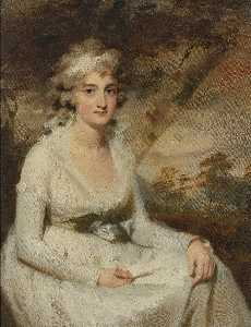 Henry Raeburn - Portrait of Mrs. Campbell