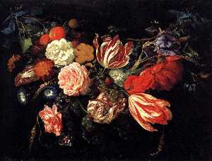 Jan Davidszoon De Heem - Festoon with Flowers and Fruit