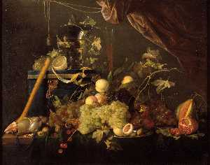 Jan Davidszoon De Heem - Fruit Still Life with jewelry box