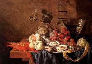 Jan Davidszoon De Heem - Fruits and Pieces of Seafood