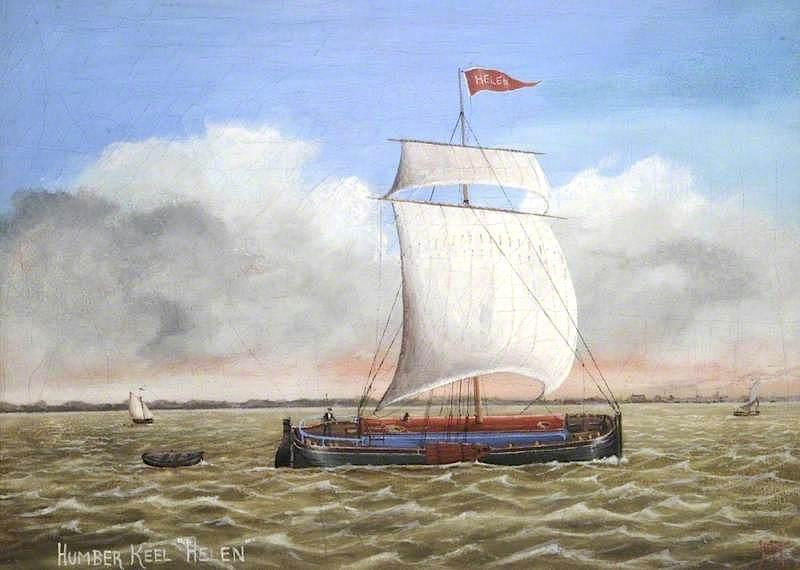 Humber Keel, `Helen` by Ruben Chappell | Paintings Reproductions Ruben Chappell | ArtsDot.com