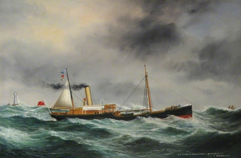 SS `James Tennant` of Newcastle (Foul Weather) by Ruben Chappell | Art Reproductions Ruben Chappell | ArtsDot.com