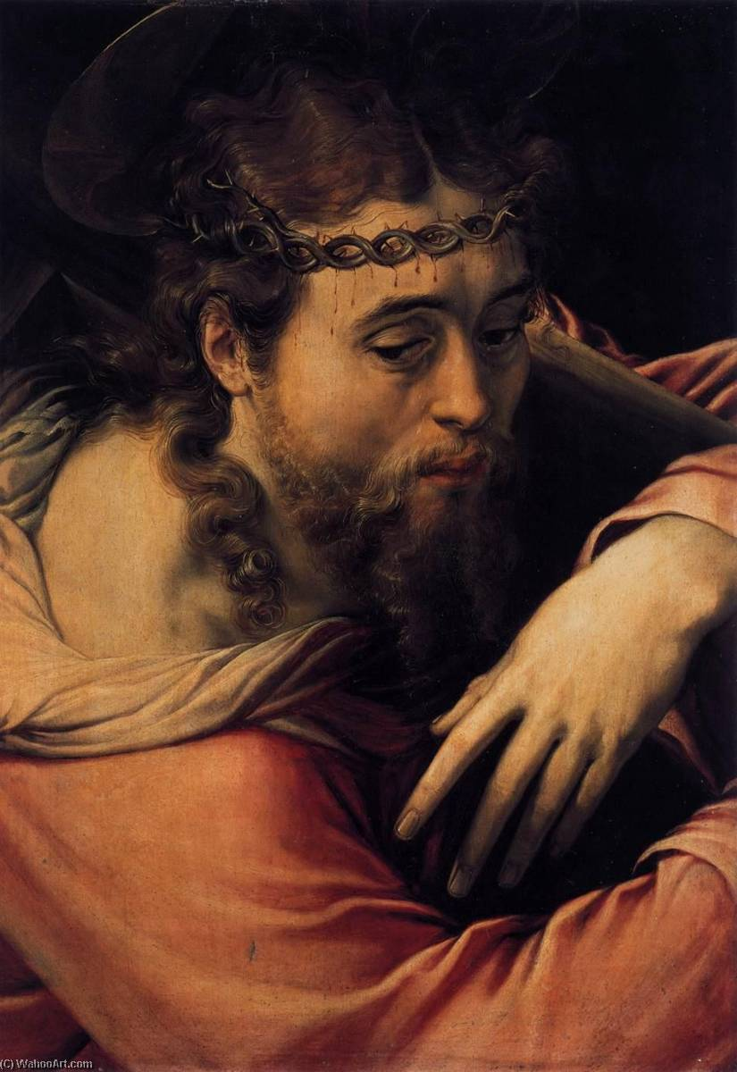 Christ Carrying the Cross, 1540 by Francesco De' Rossi | Oil Painting | ArtsDot.com
