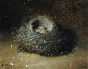 Abel Hold - Nest with Three Eggs