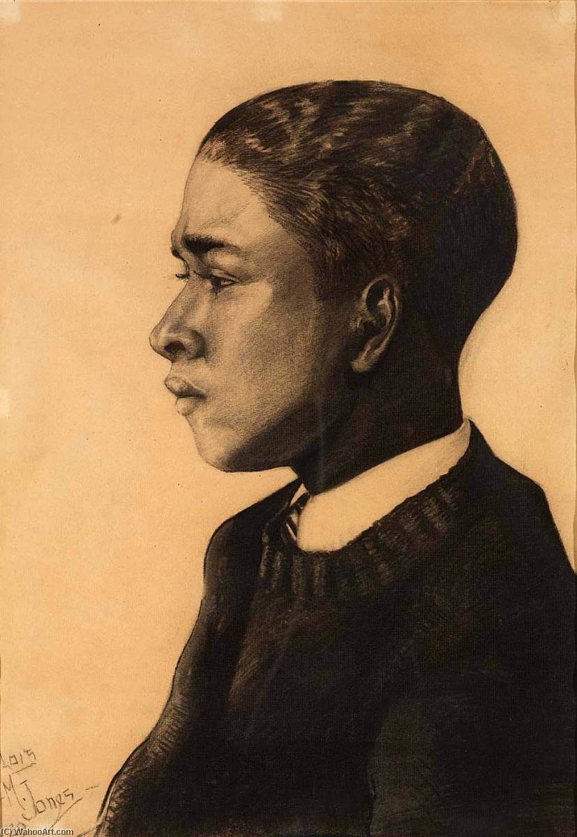 Negro Youth, 1929 by Lois Mailou Jones (1905-1998, United States) | Oil Painting | ArtsDot.com