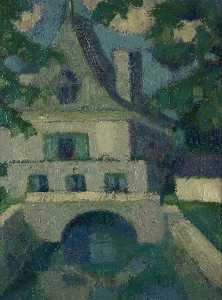 Margaret Morris - French Building over a Ca..