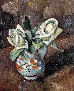 Keith Baynes - Still Life of White Roses
