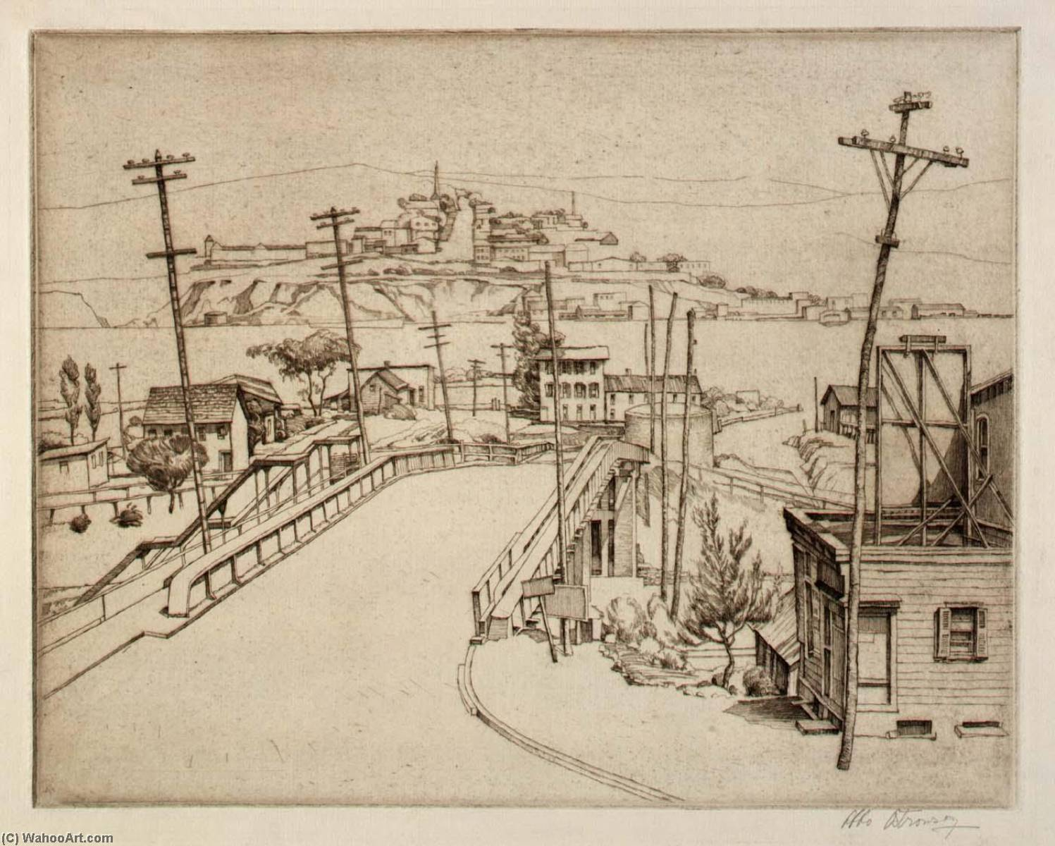 Fishkill Landing, 1936 by Abbo Ostrowsky | Art Reproduction | ArtsDot.com