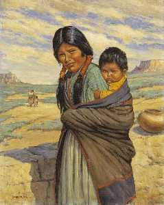 Carl Moon - Hopi Mother and Child