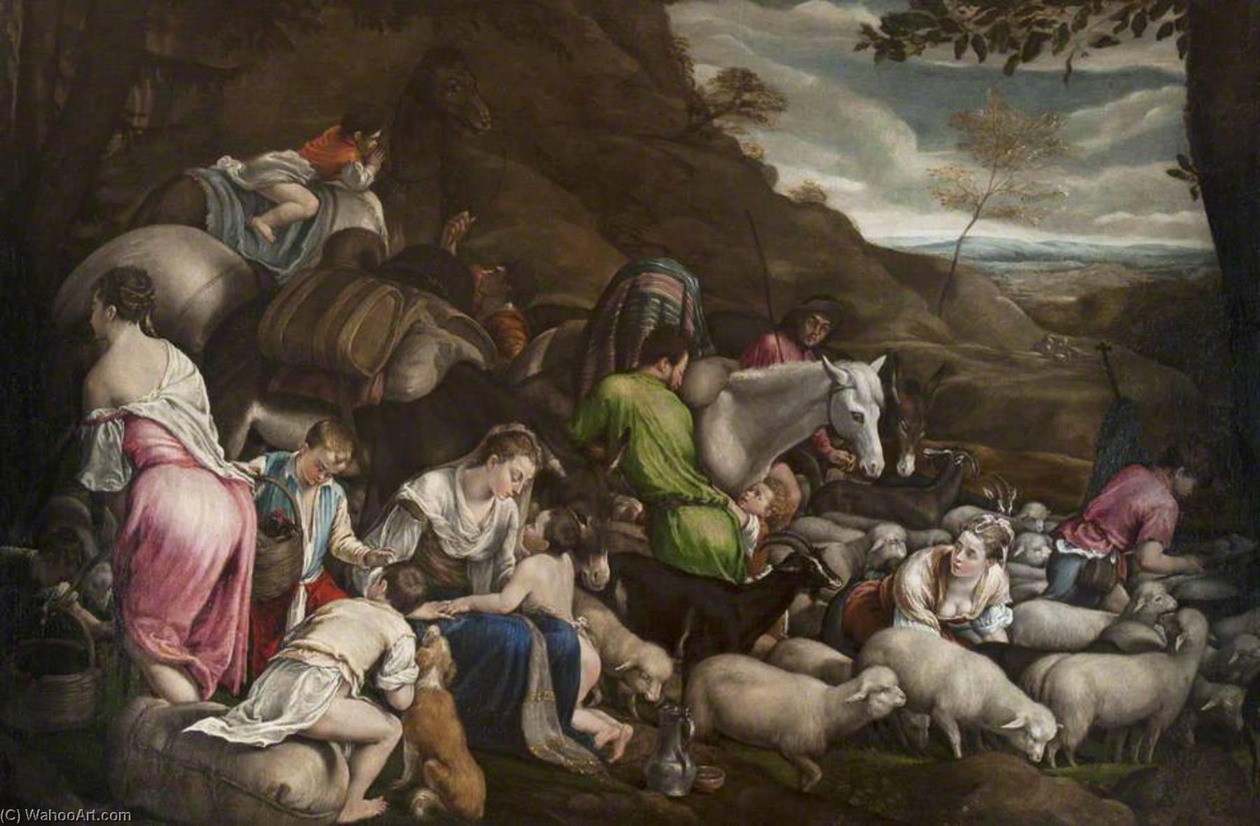 Laban and His Flock by Jacopo Bassano The Elder | Art Reproduction | ArtsDot.com