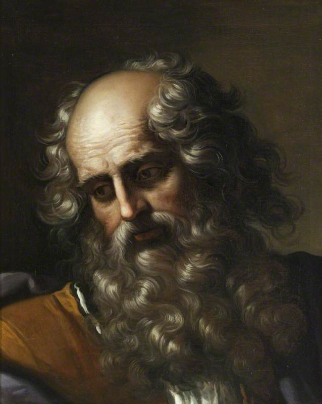 Head of Saint Paul, 1673 by Benedetto Gennari The Younger (1633-1715, Italy) | Museum Art Reproductions | ArtsDot.com
