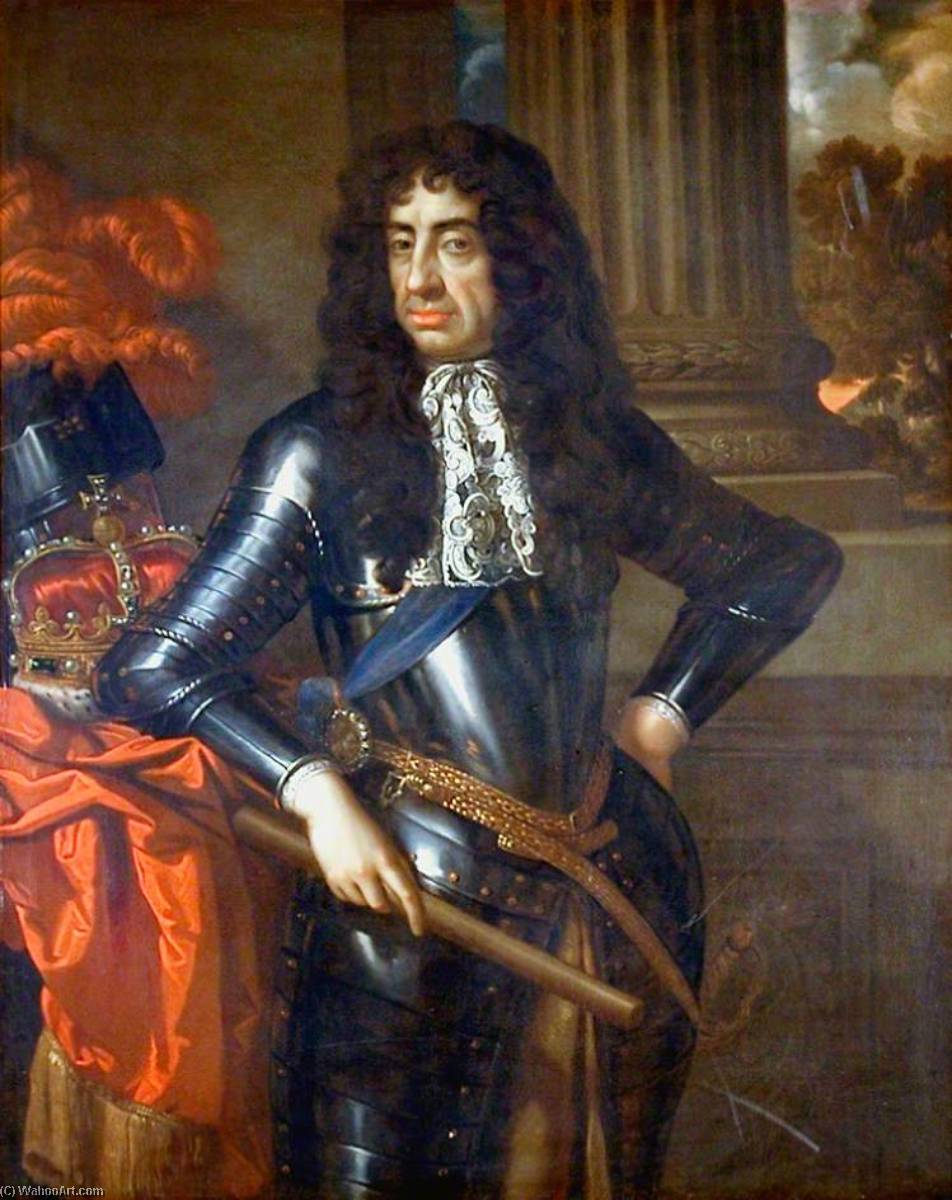 King Charles II (1630–1685), 1678 by Benedetto Gennari The Younger (1633-1715, Italy) | Museum Quality Reproductions | ArtsDot.com