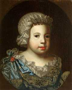 Benedetto Gennari The Younger - Portrait of an Unknown Small Child