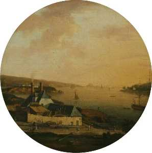 William Tomkins - A View of the Dockyard, C..