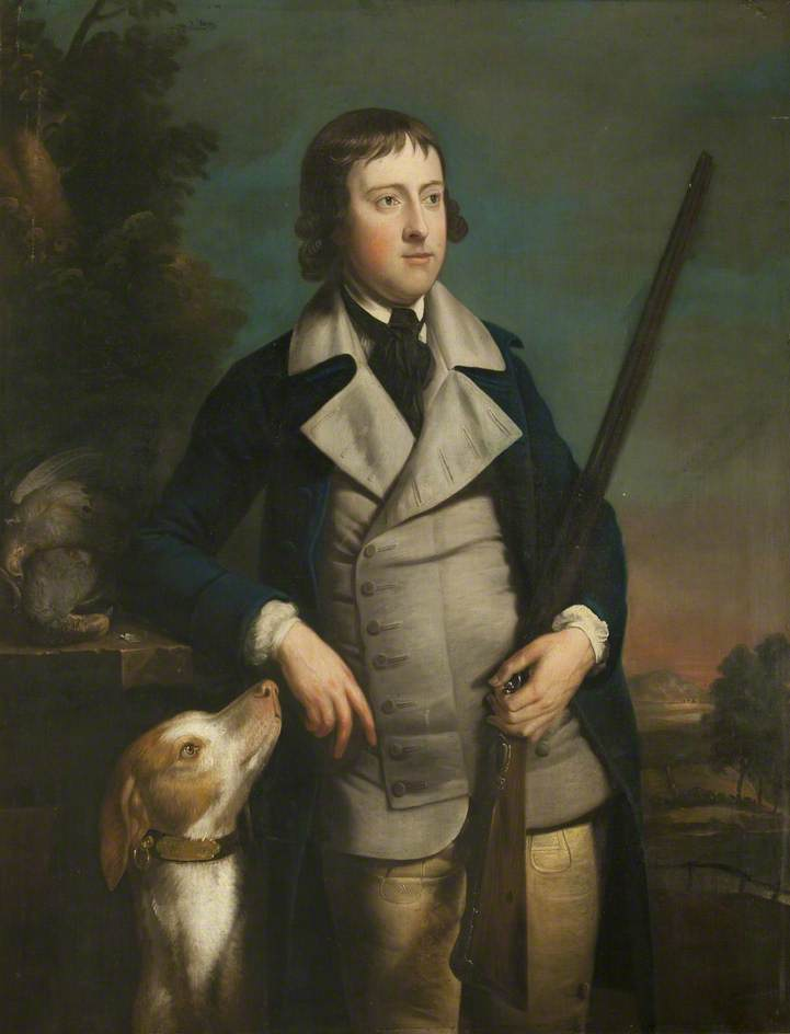 William Hulton with Gun Dog and Shotgun, 1769 by Henry Pickering | Museum Quality Reproductions | ArtsDot.com