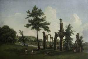 Nicholas Thomas Dall - The Ruins, Shugborough