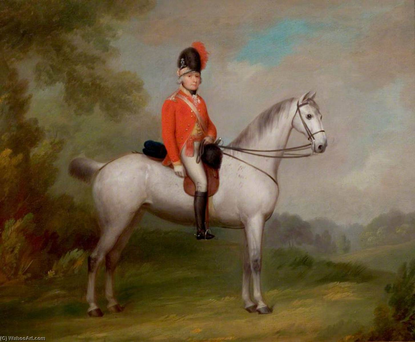 Captain Ichabod Wright of Mapperley (1767–1862), Formed the First Nottingham Troop in 1794, 1803 by John Boultbee | Art Reproductions John Boultbee | ArtsDot.com