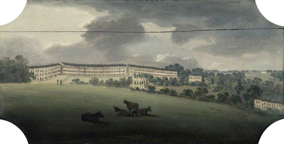 Lansdown Crescent, Bath by Joseph Sheldon | Museum Art Reproductions Joseph Sheldon | ArtsDot.com