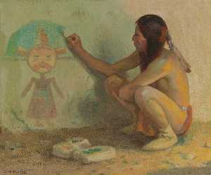 Eanger Irving Couse - The Kachina Painter