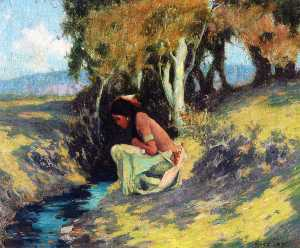 Eanger Irving Couse - Indian Summer