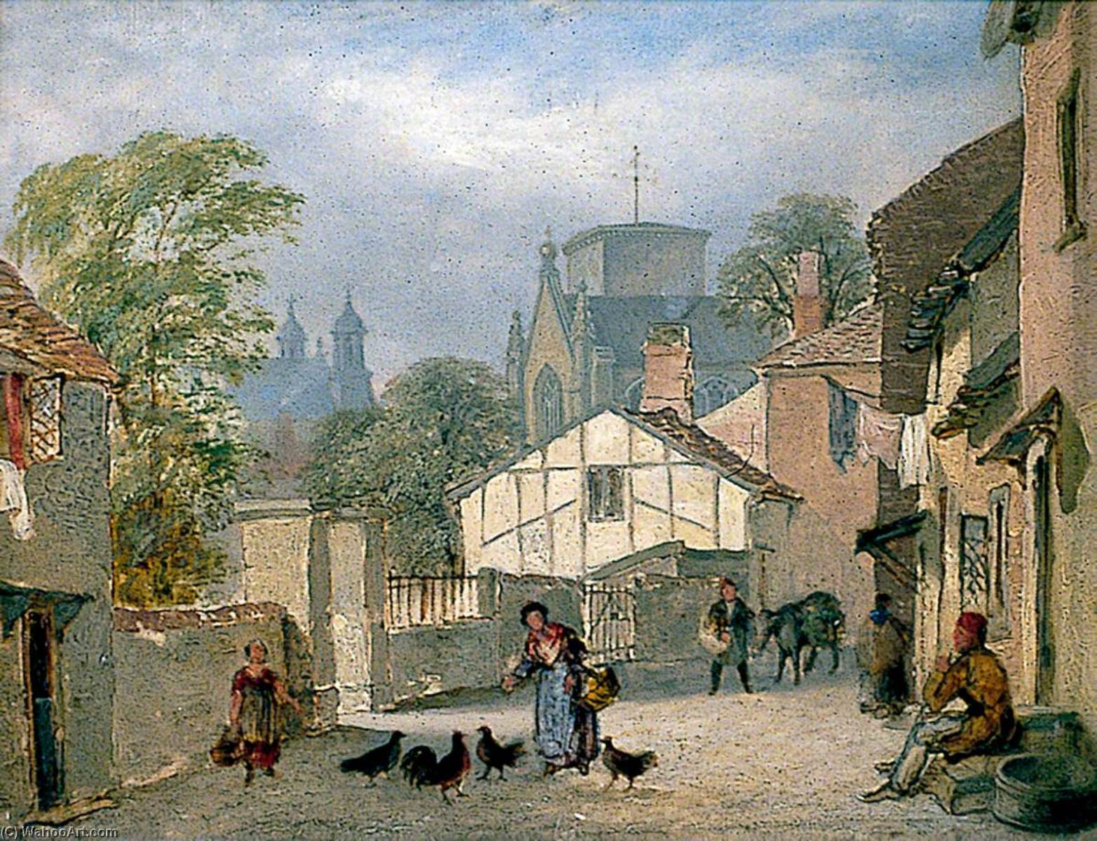St Stephen`s Back Street, Norwich, 1843 by Henry Ninham | Museum Art Reproductions | ArtsDot.com
