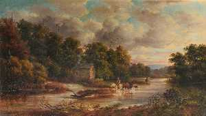 John Joseph Hughes - Mill on the Usk, Monmouth..