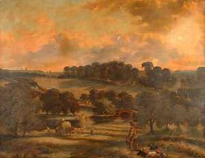 John Joseph Hughes - View of Hay Time, Hamstea..