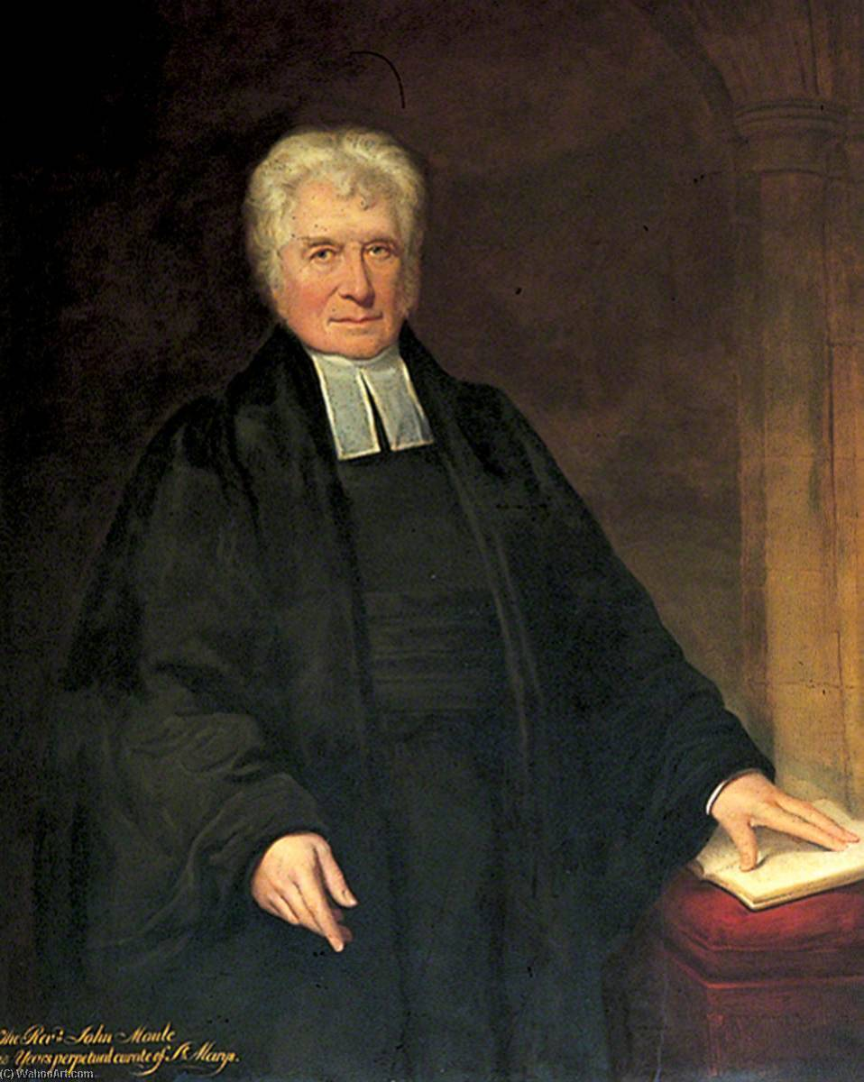 Reverend J. Maule, Vicar of St Mary's, 1842 by William Richard Waters | Museum Art Reproductions William Richard Waters | ArtsDot.com